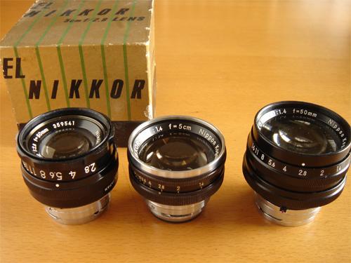 オリンピアニッコールの先鋭度 ニコンSPとELニッコール50mmf2.8